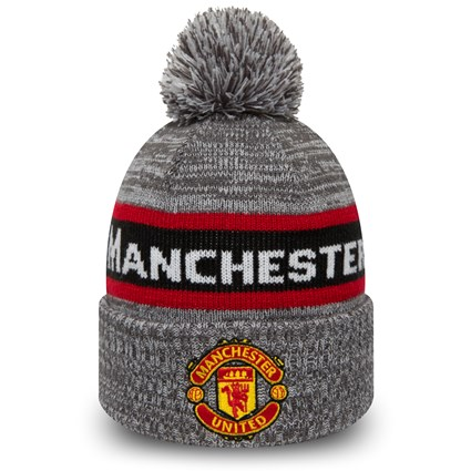 Manchester United Grey Bobble Cuff Knit New Era