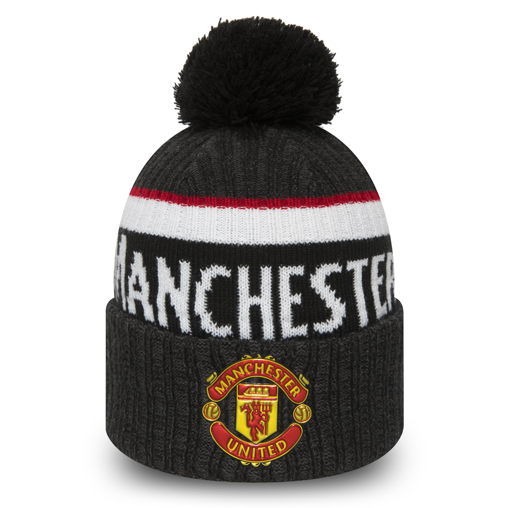 Manchester United Black Bobble Cuff Knit
