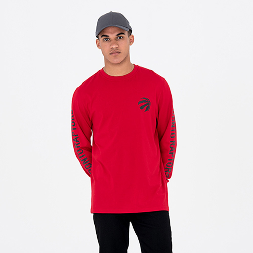 Camiseta Toronto Raptors Team Long Sleeve, rojo