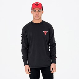 Chicago Bulls Team Black Long Sleeve Tee