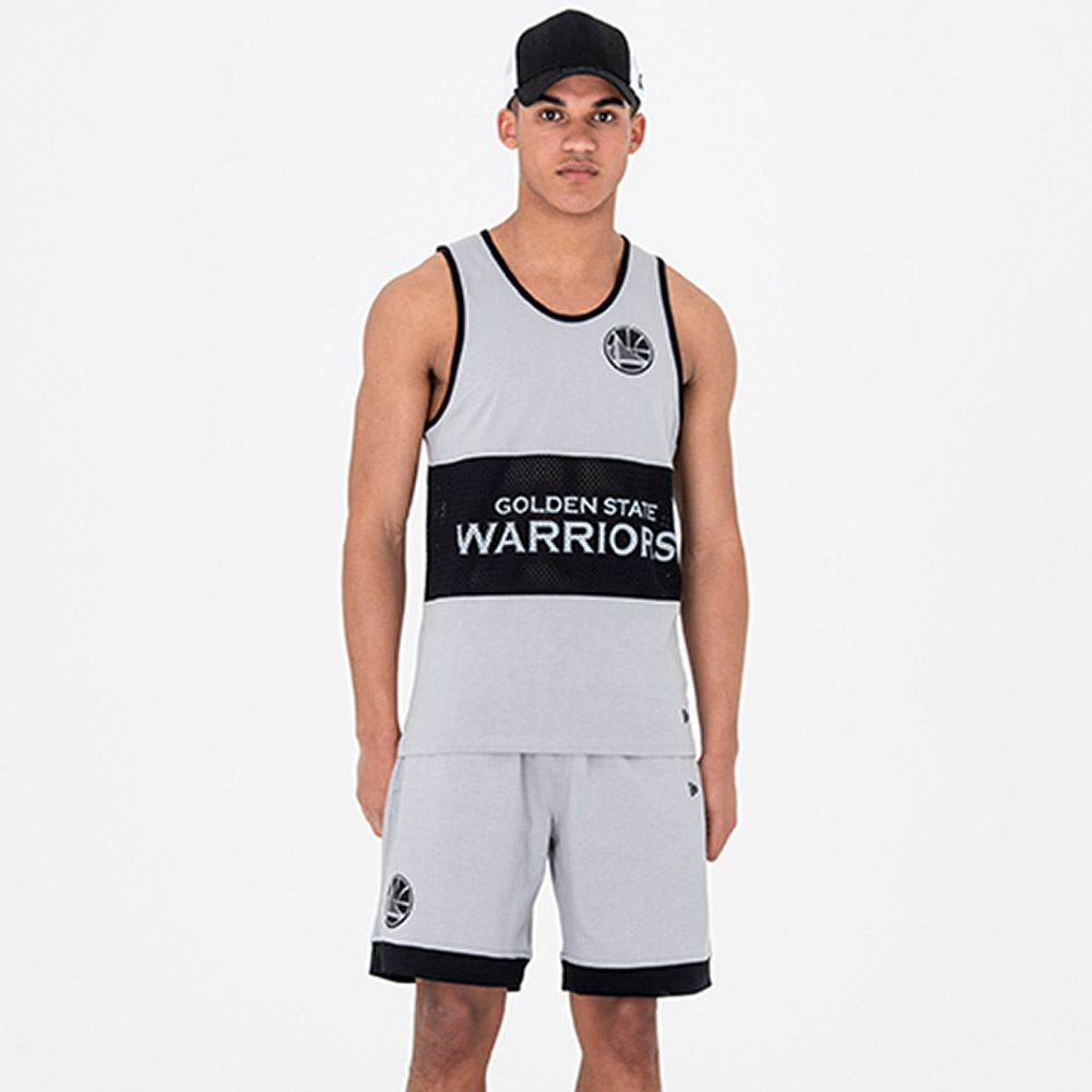 Golden State Warriors Team Grey Mesh Shorts