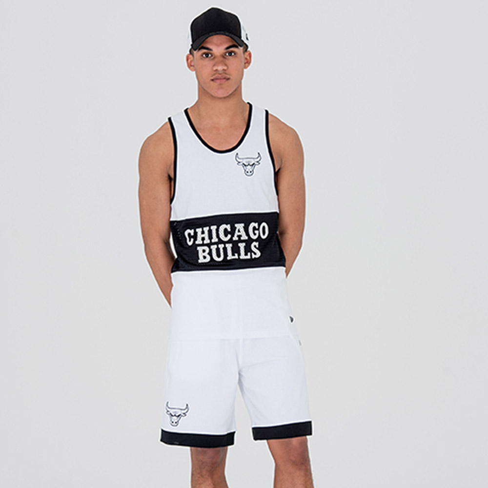 Short des Chicago Bulls en maille blanche