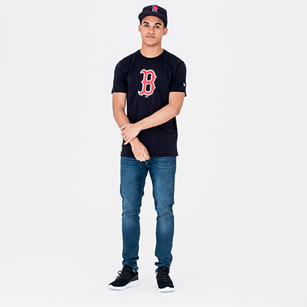 T-shirt Essential bleu marine des Boston Red Sox