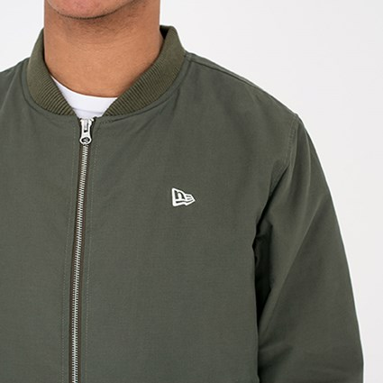 ef4ca7709 New Era Green Sherpa Bomber Jacket | New Era