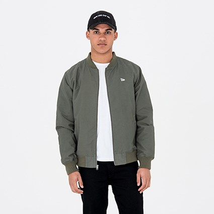 b381c38132824 New Era Green Sherpa Bomber Jacket