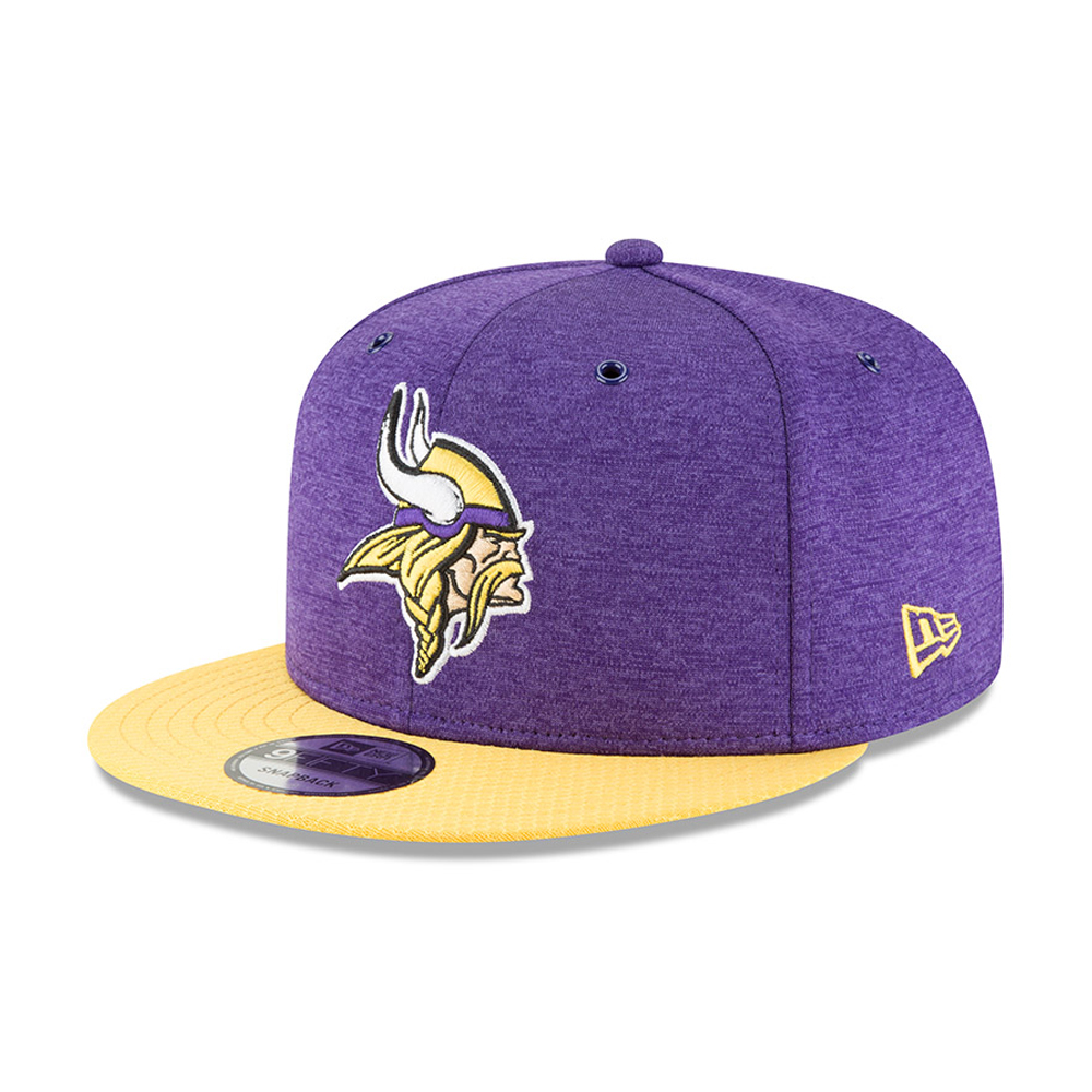 2847f2ccfdb Minnesota Vikings 2018 Sideline Home 9FIFTY Snapback