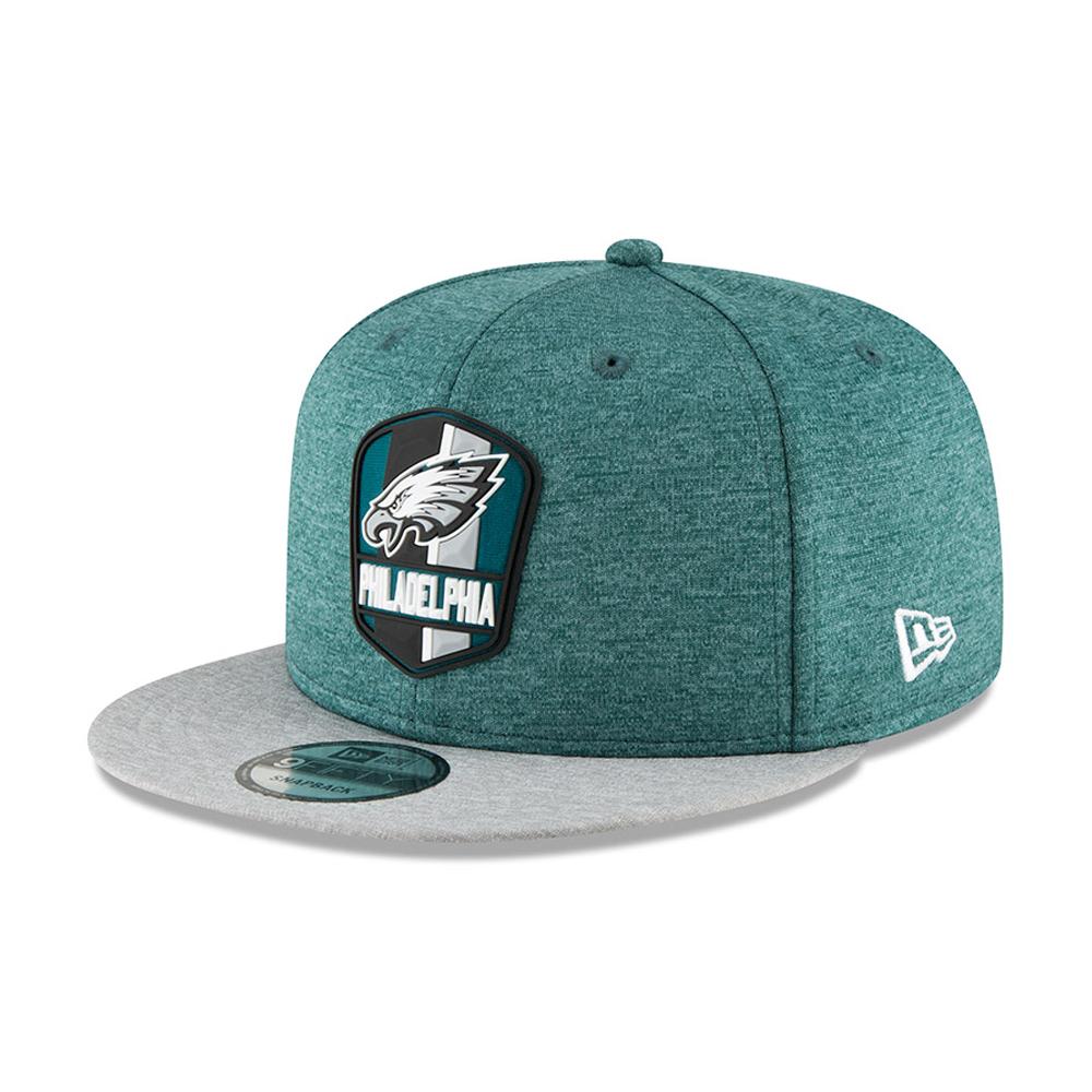 Philadelphia Eagles 2018 Sideline Away 9FIFTY casquette avec languette de réglage crantée