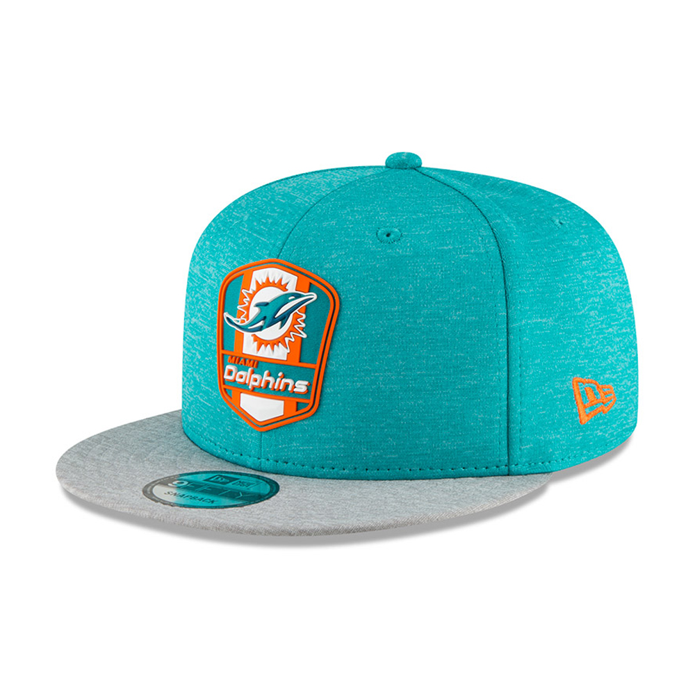 best sneakers 75755 30623 Miami Dolphins 2018 Sideline Away 9FIFTY Snapback