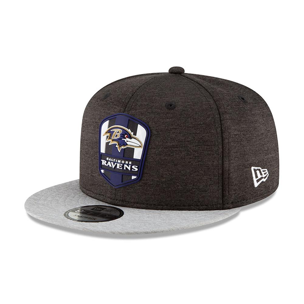 e60245b1024 Baltimore Ravens 2018 Sideline Away 9FIFTY Snapback