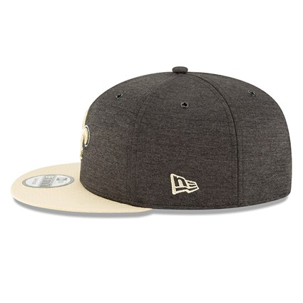 ... New Orleans Saints 2018 Sideline Home 9FIFTY Snapback 90d59d73980a