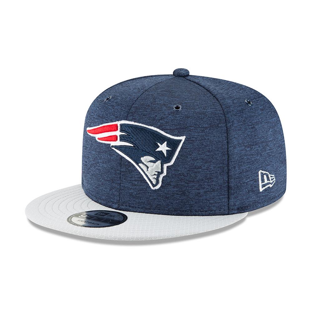 Casquette avec languette de réglage crantée New England Patriots 2018 Sideline Home 9FIFTY