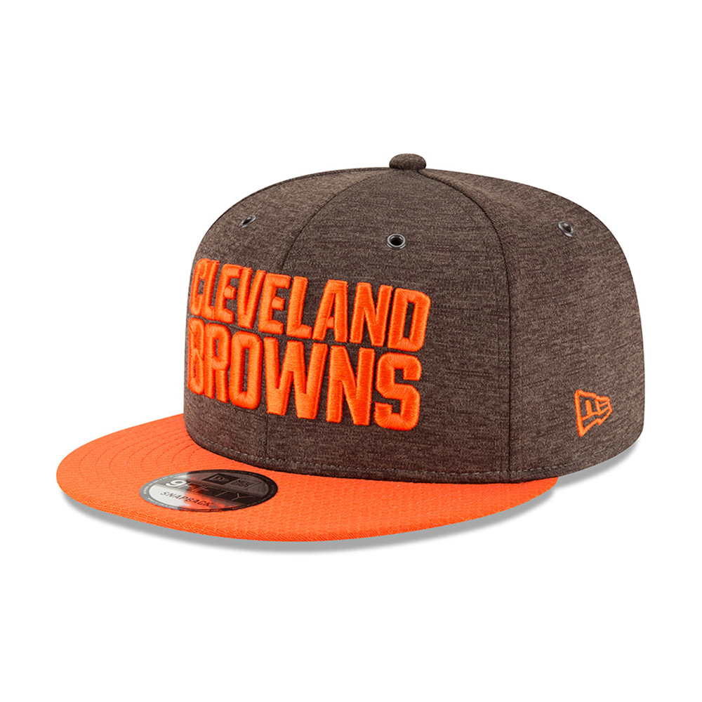 new product 0a9a8 aaeae Cleveland Browns 2018 Sideline Home 9FIFTY Snapback