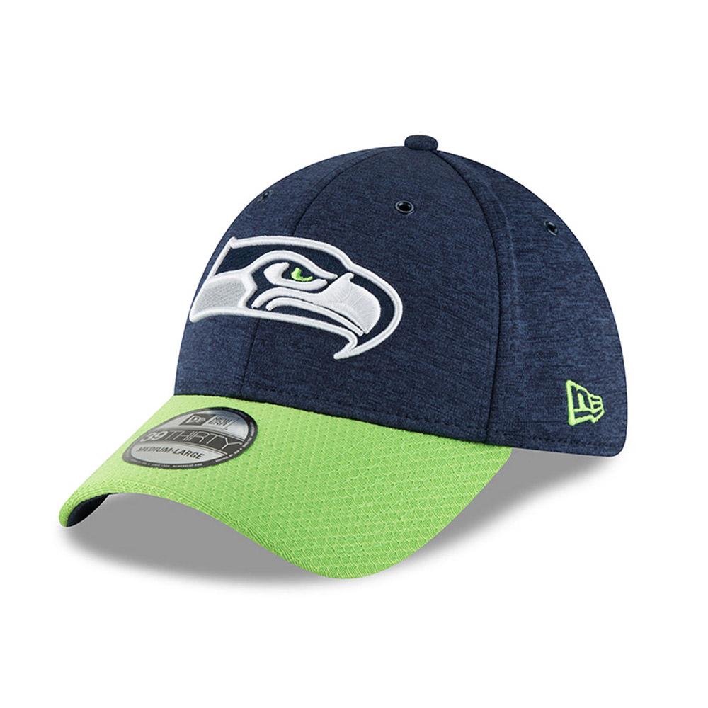 New Era 39Thirty Cap Platinum Sideline Seattle Seahawks