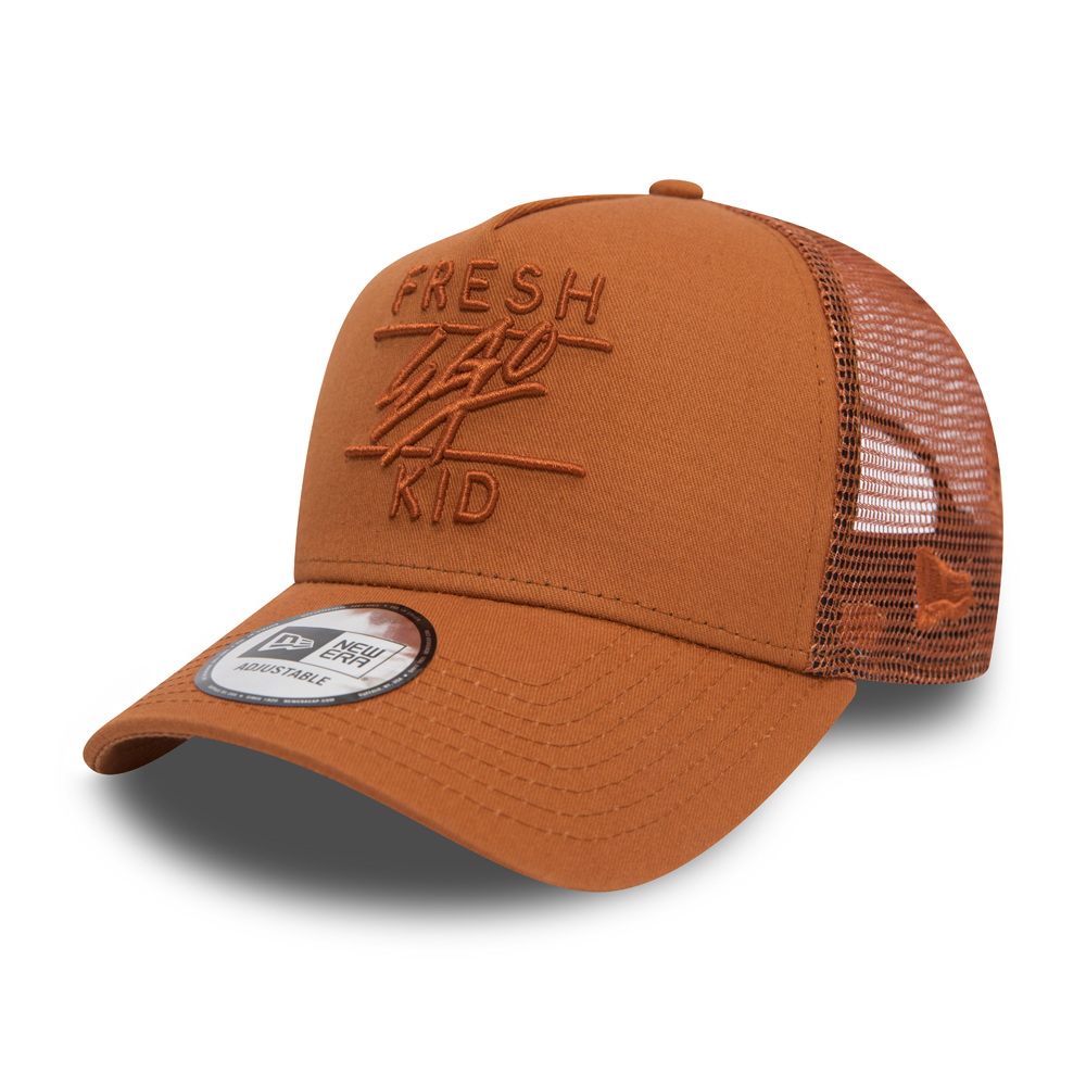 New Era Fresh Ego Kid Mesh Brown A Frame Trucker