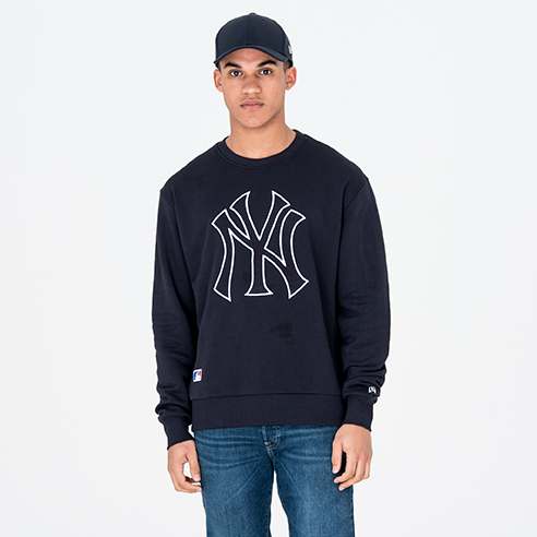 Pull ras du cou New York Yankees University Club bleu marine