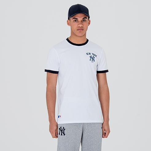 T-shirt con logo New York Yankees University Club bianca 4d0c587e4086