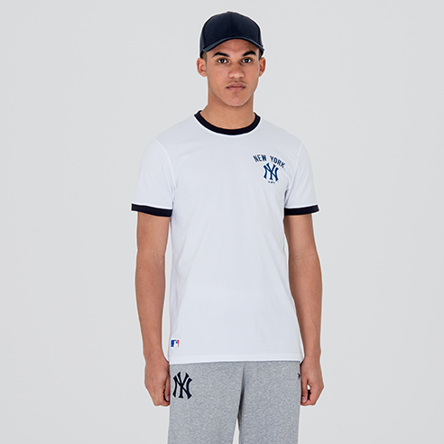 Camiseta New York Yankees University Club Logo, blanco