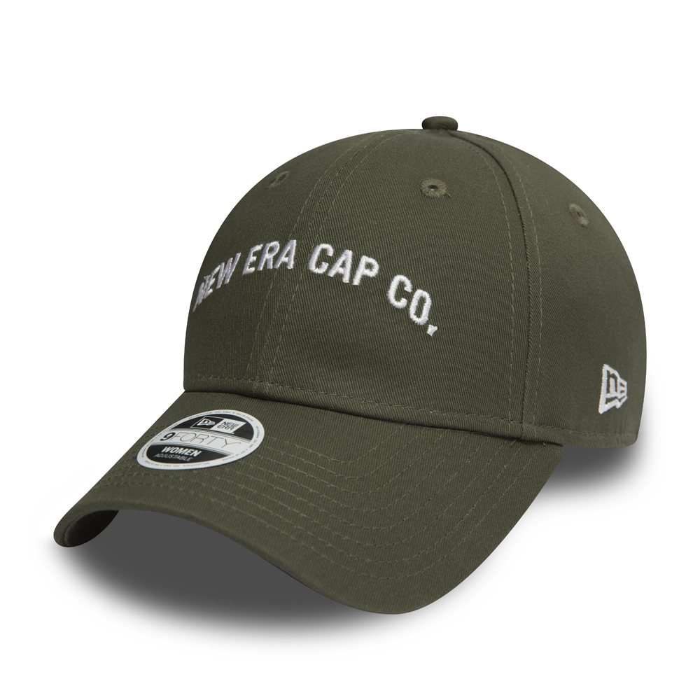 New Era Script Olive 9FORTY mujer