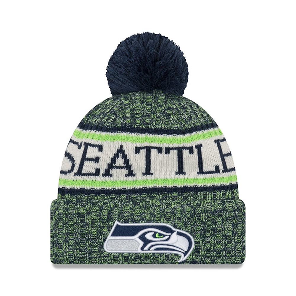 Seattle Seahawks 2018 Sideline Bobble Cuff Knit