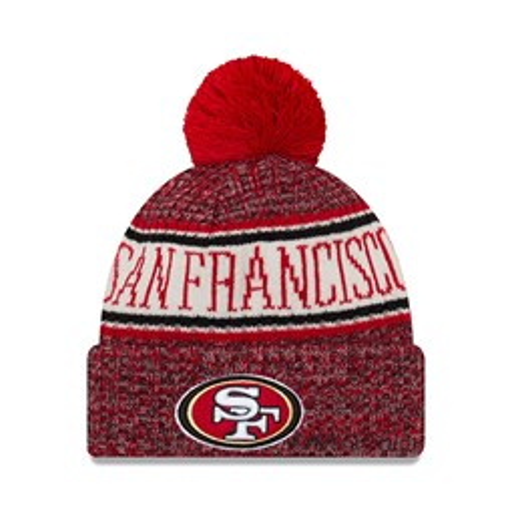 San Francisco 49ers 2018 Sideline Bobble Cuff Knit 7e3e2fd6a