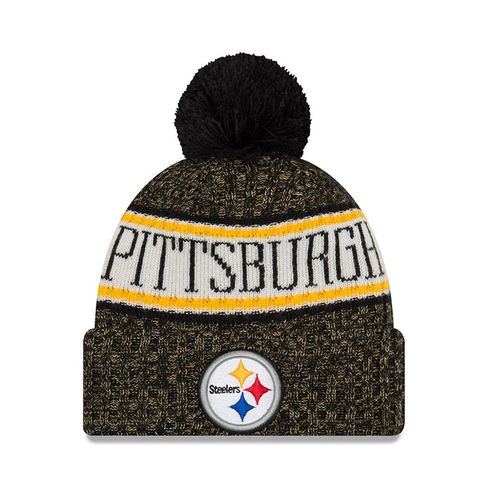 Gorro de punto con vuelta Pittsburgh Steelers 2018 Sideline Bobble ... 6512e08654d