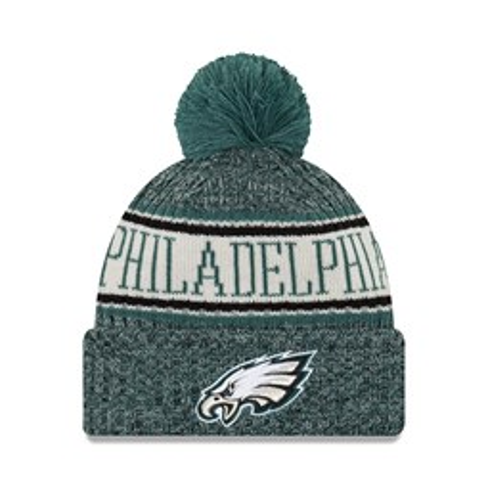 Philadelphia Eagles 2018 Sideline Bobble Cuff – Beanie