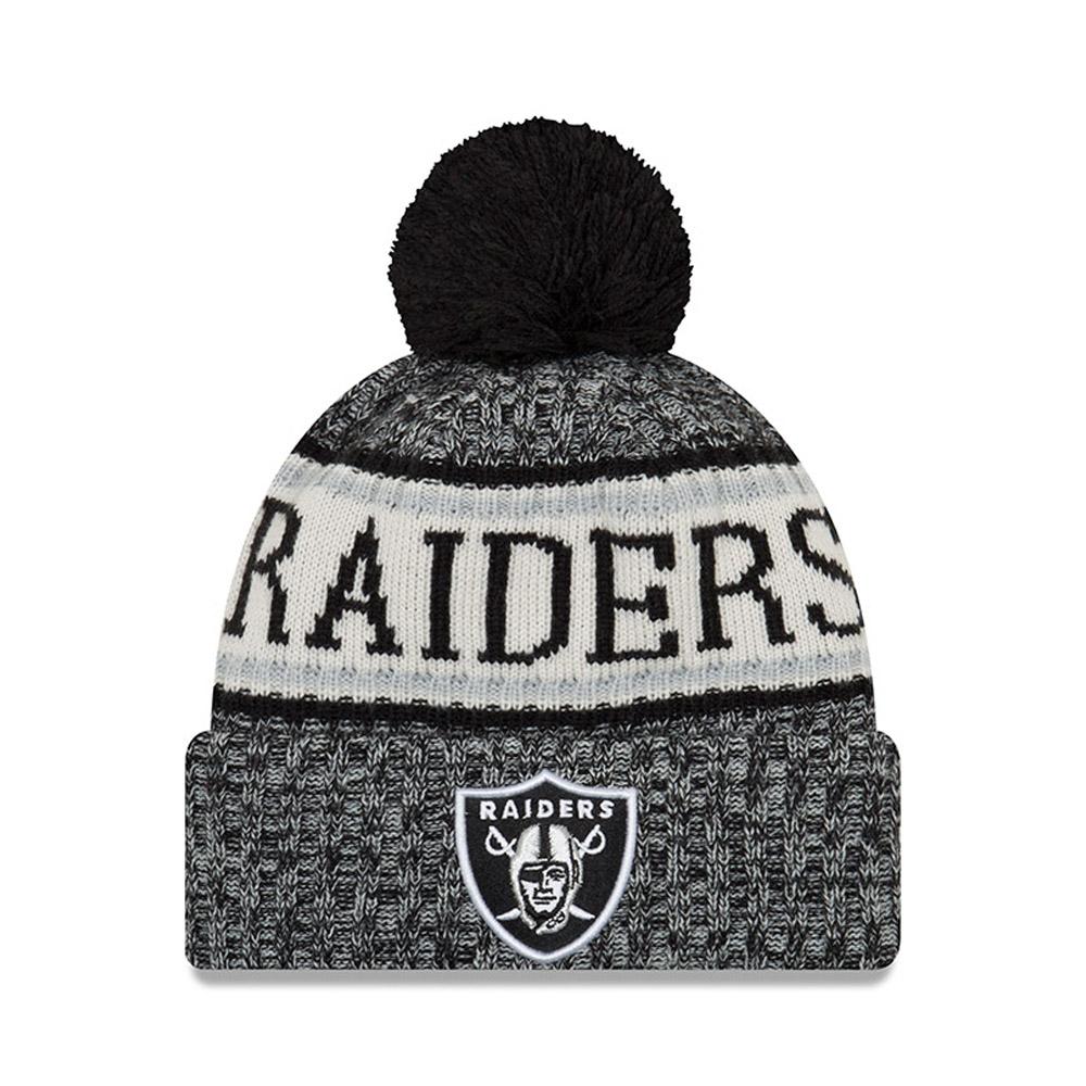Oakland Raiders 2018 Sideline Bobble Cuff Knit 9be09c62117