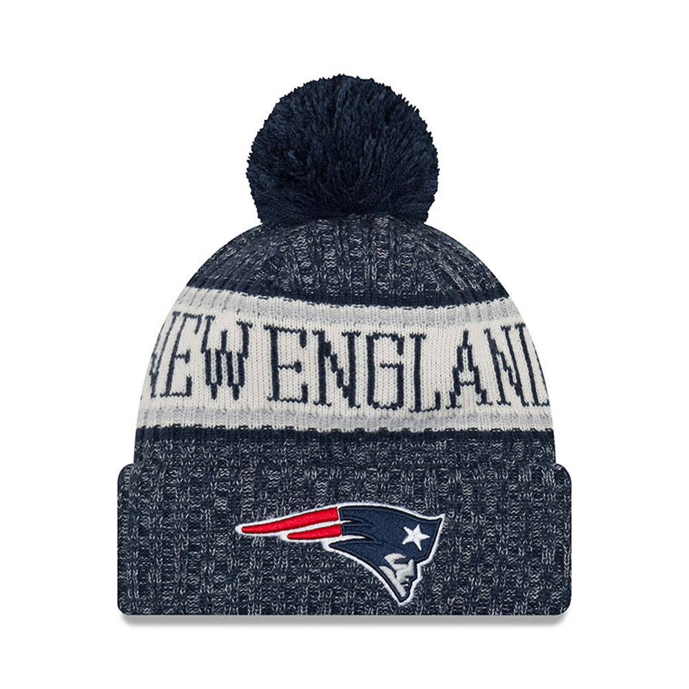 New England Patriots 2018 Sideline Bobble Cuff Knit