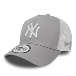 NY Yankees Clean A Frame Grey Trucker
