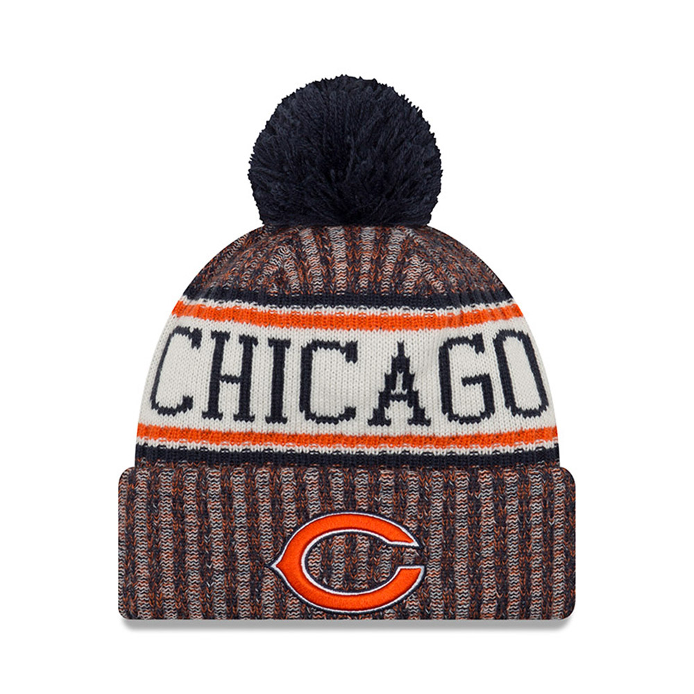 Gorro de punto con vuelta Chicago Bears 2018 Sideline Bobble