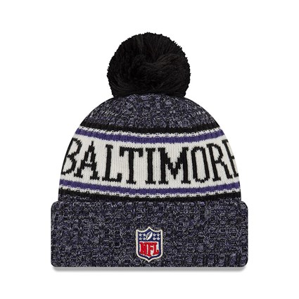 Baltimore Ravens 2018 Sideline Bobble Cuff Knit