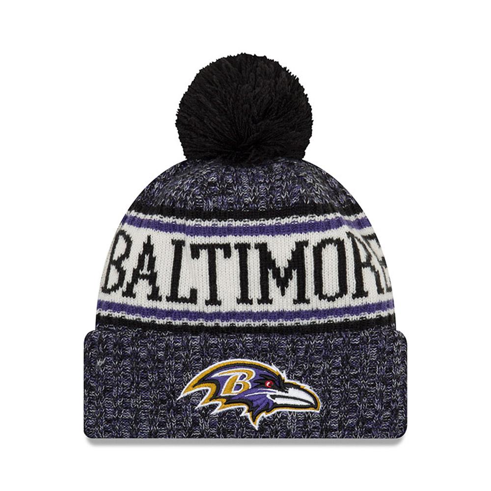 Gorro de punto con vuelta Baltimore Ravens 2018 Sideline Bobble