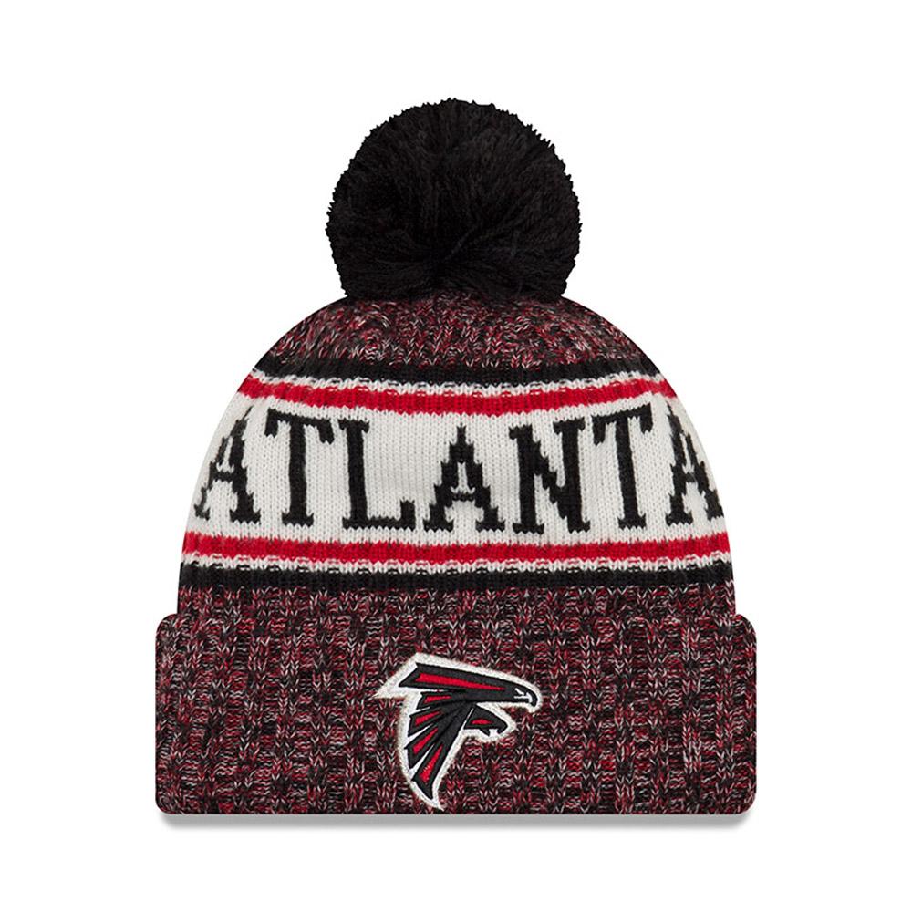 Berretto di maglia con risvolto e pompon Atlanta Falcons 2018 Sideline