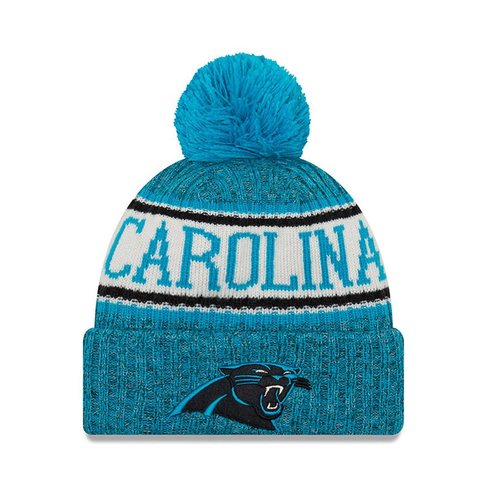 Berretto di maglia con risvolto e pompon Carolina Panthers 2018 Sideline