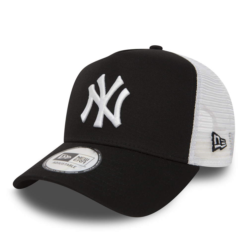 NY Yankees Clean A Frame Black Trucker
