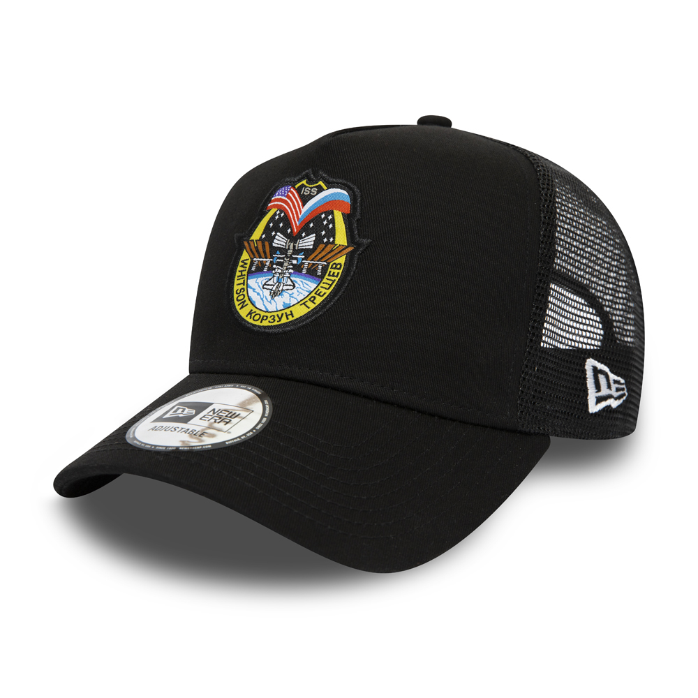 International Space Archives Black A Frame Trucker