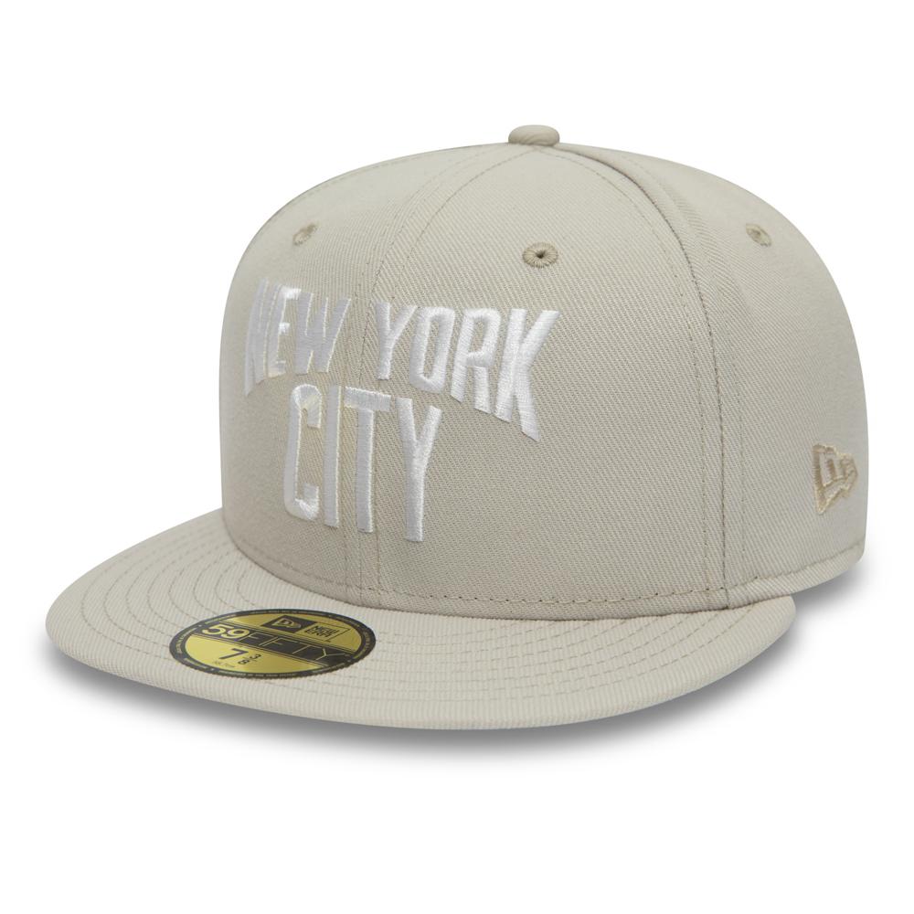 New York City Wordmark 59FIFTY crema