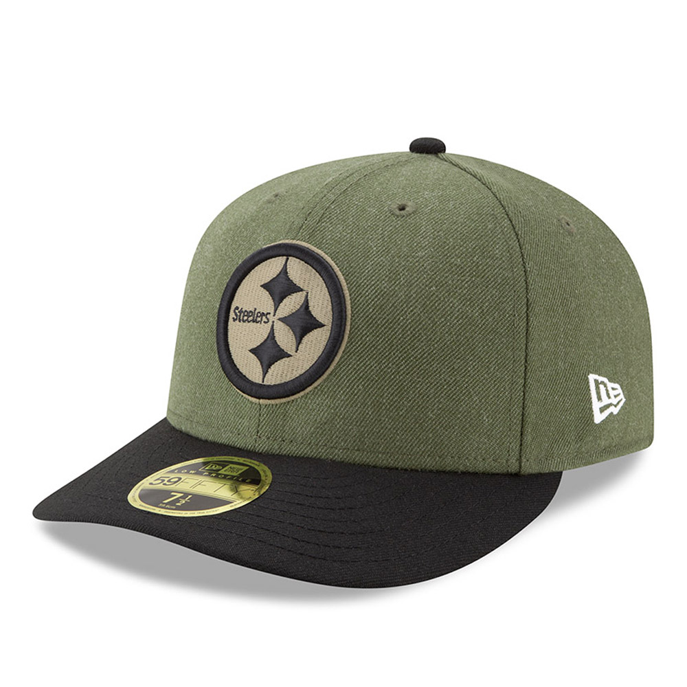 best service c3c77 c8eef Pittsburgh Steelers Salute to Service Low Profile 59FIFTY