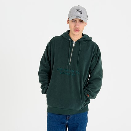 New Era Green Half Zip Hoodie