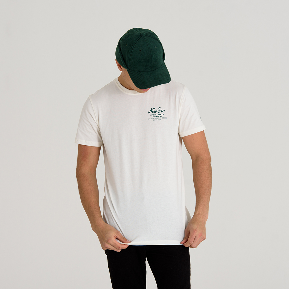 New Era Cap Co. White Tee