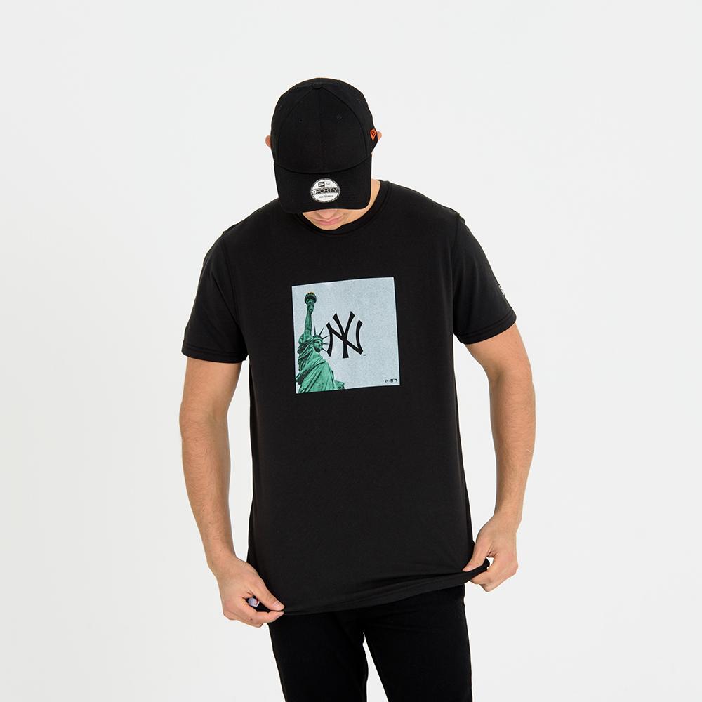T-shirt New York Yankees City Print nera