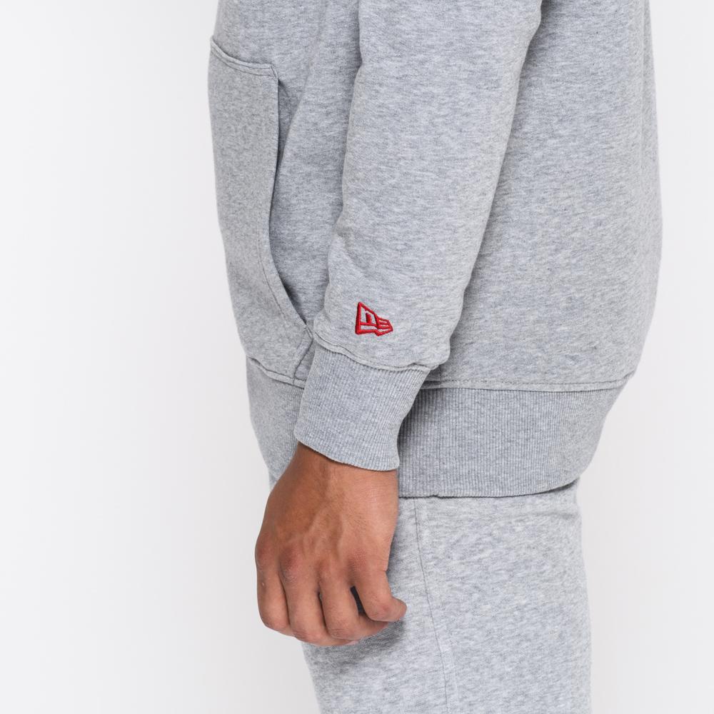 Sweat à capuche gris avec logo de la NFL
