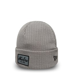 New Era Script Winter Utility Grey Cuff Knit b2b7a70f28b