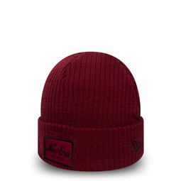 Bonnet à revers New Era Script Winter Utility rouge