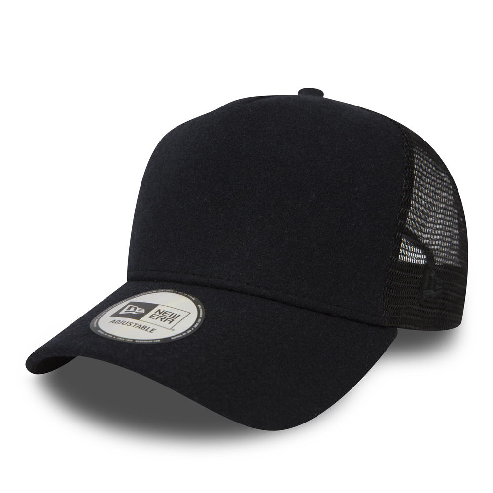 New Era Winter Utility Black A Frame Trucker