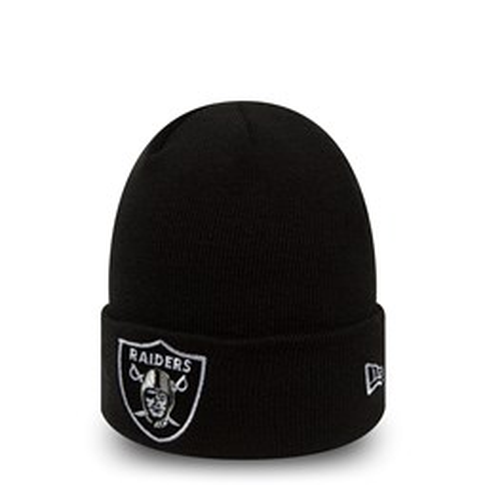 Gorro de punto con vuelta Oakland Raiders Team Essential