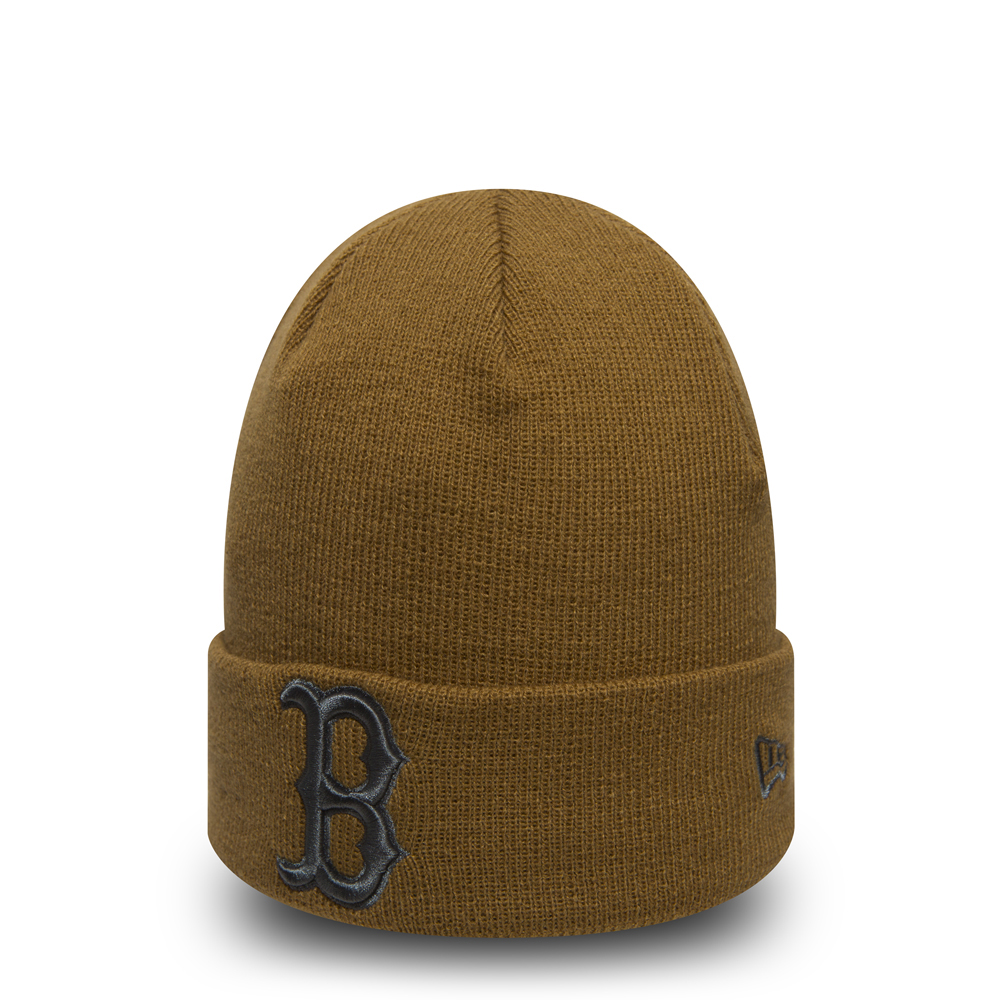 Gorro de punto con vuelta Boston Red Sox Essential, trigo