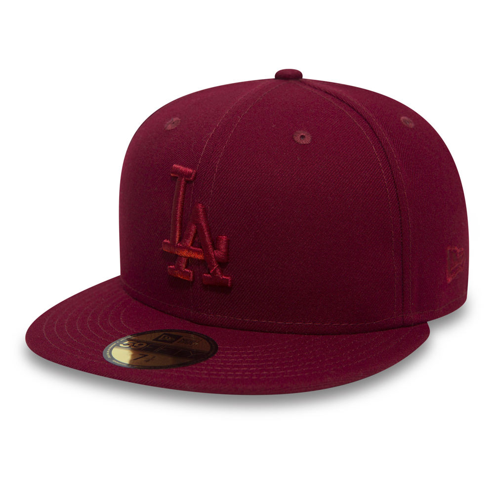Los Angeles Dodgers Essential 59FIFTY, rojo cardinal