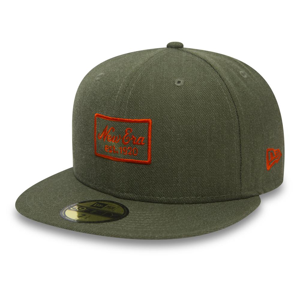 New Era Heather Script Army Green 59FIFTY dddf98721322