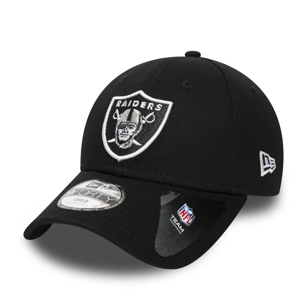 Oakland Raiders Essential 9FORTY bebé, negro
